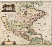 Carte du vieux monde — Photo