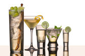 Five vodka cocktails — Stockfoto