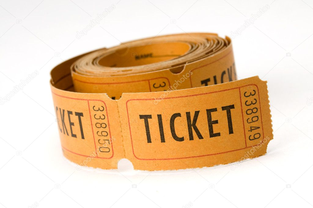 Orange ticket stubs on white background, either say ticket or keep this coupon  Stock Photo #2206269