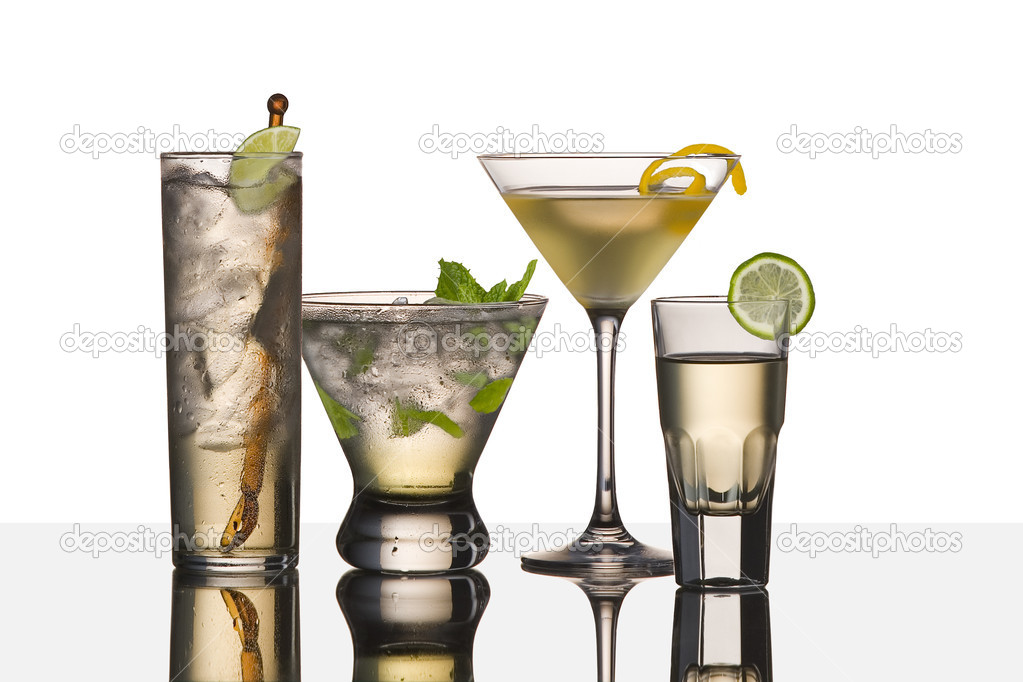 Assorted cocktail drinks made with vodka — Stock Photo #2206612