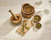 Wooden utensils — Stockfoto