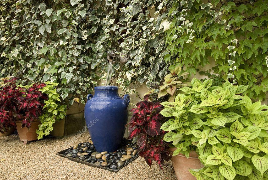 Garten brunnen idee — stockfoto © shippee #2239699