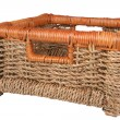 Braided basket — Stock Photo