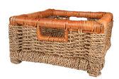 Braided basket — Stock Photo