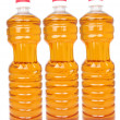 Bottles with vegetable oil - Stock Photo