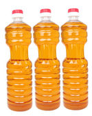 Bottles with vegetable oil — Stock Photo