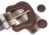 Buckle on belt and buttons — Stock Photo