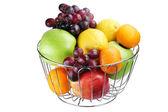 Basket with fruit — Stock Photo