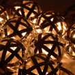 Cluster of ball lanterns — Stock Photo