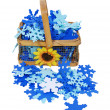 Country Snow basket — Stock Photo