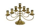 Brass candelabra — Stock Photo