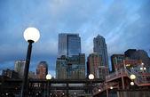 Staden på twilight — Stockfoto