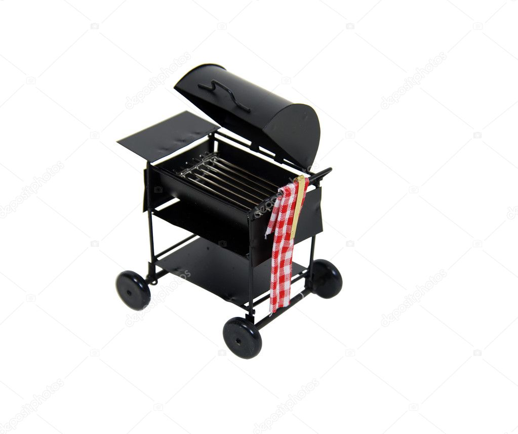 Metal barbeque grill used for easy weekend get togethers with friends — Stock Photo #2129359