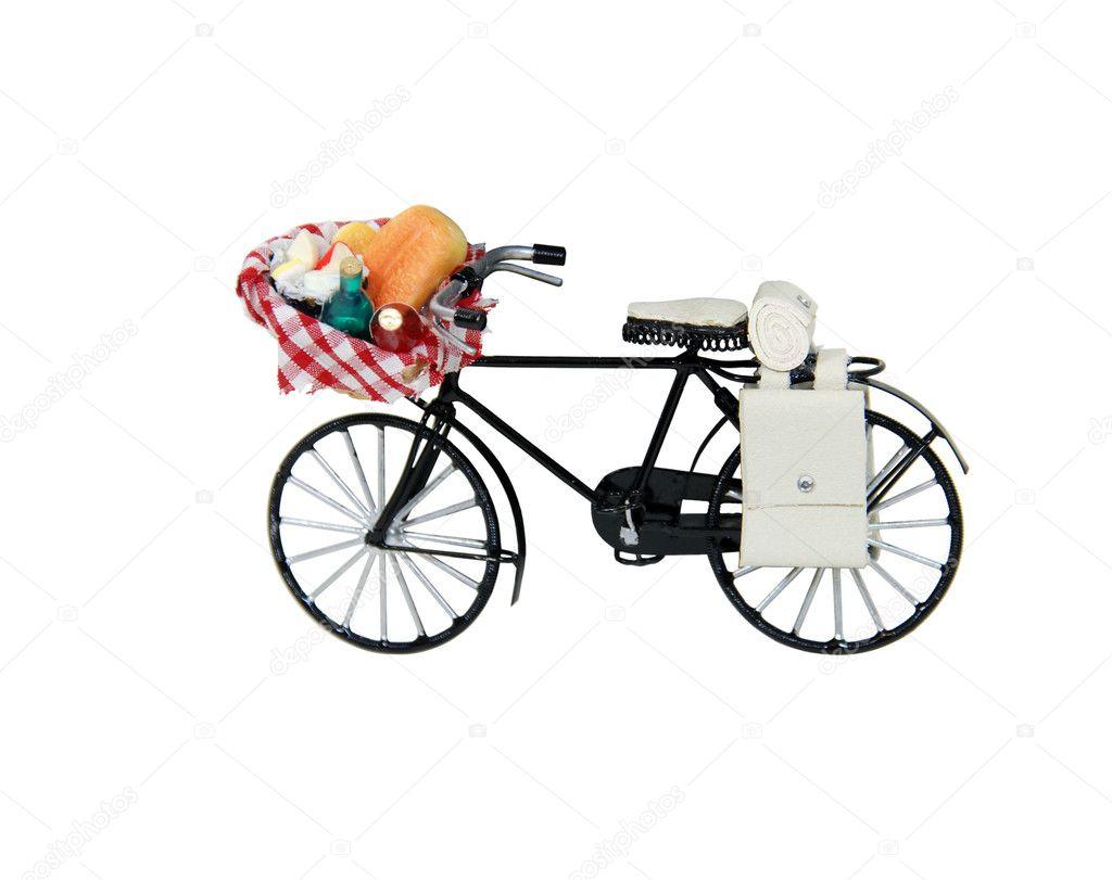 offene lebensmittel picknickkorb auf fahrrad stockfoto penywise 2129418. Black Bedroom Furniture Sets. Home Design Ideas