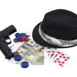 Gangster gambling kit — Stock Photo