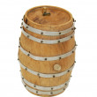 Wooden oak barrel — Stock Photo