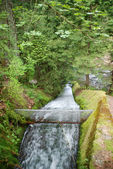 Manmade Waterfall in the forest — Stock Photo