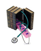Books of medical information — Stock Photo