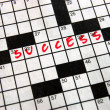 Crossword Success — 图库照片