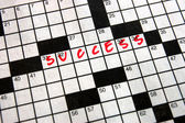Crossword Success — Stock Photo