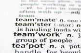 Teamwork Defined — Stock Photo