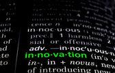 Innovation Defined Green on Black — Stock Photo