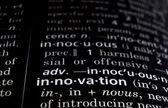 Innovation Defined on Black — Stock Photo