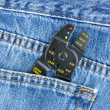 Wire Stripper in Blue Jeans Pocket — Stock Photo