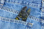 Wire Stripper in Blue Jeans Pocket — Stock Photo