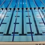 Indoor Swimming Pool Lanes — Stock Photo