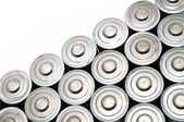 Many AA Batteries — Stock Photo