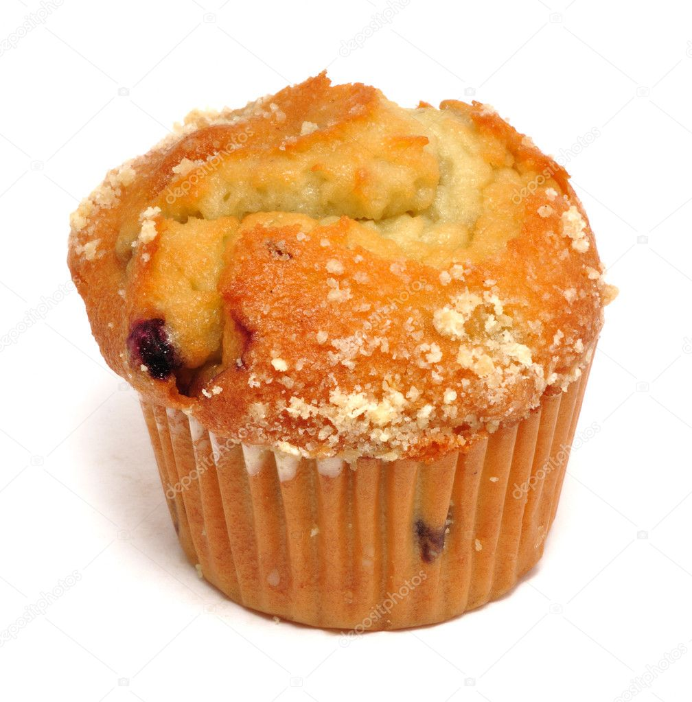 Blueberry Muffin Isolated on a White Background — Stock Photo #2178359