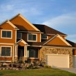 Suburban Executive Home - Stock Photo