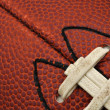 Stock Photo: Close-up of Football Testure with laces
