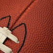 Close-up of Football Testure with laces — Stock Photo