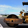 Stock Photo: Steamroller at Road Construction Site