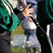 Stock Photo: Performer Playing Clarinet in Parade