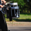 Stock Photo: Drummers Playing Snare Drums in Parade