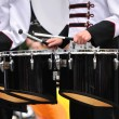 Stock Photo: Drummers Playing Tenor Drums in Parade