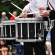 Drummers Playing Snare Drums in Parade - Stock Photo