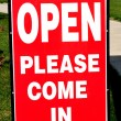Open House (Please Come in) Sign — Stock Photo #2193123