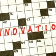 The Word Innovation on Crossword Puzzle — Stock Photo