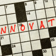 The Word INNOVATE on Crossword Puzzle — Stock Photo