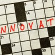 Royalty-Free Stock Photo: The Word INNOVATE on Crossword Puzzle