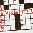 Sales and Marketing on Crossword — Stock Photo #2193527