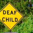 Deaf Child Sign — Stock Photo