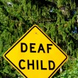 Deaf Child Sign - Lizenzfreies Foto