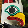 Close-up of Eagle Totem Pole - Stok fotoğraf