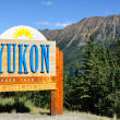 Yukon Territory, Canada Welcome Sign — Stock Photo #2193883