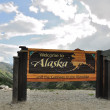 Welcome to Alaska Sign — Stock Photo